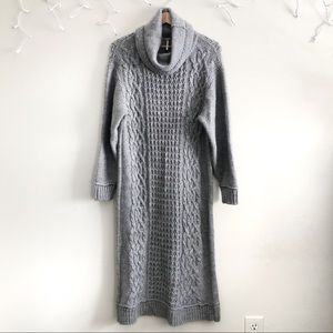 Free People gray cableknit oversize long dress Sm